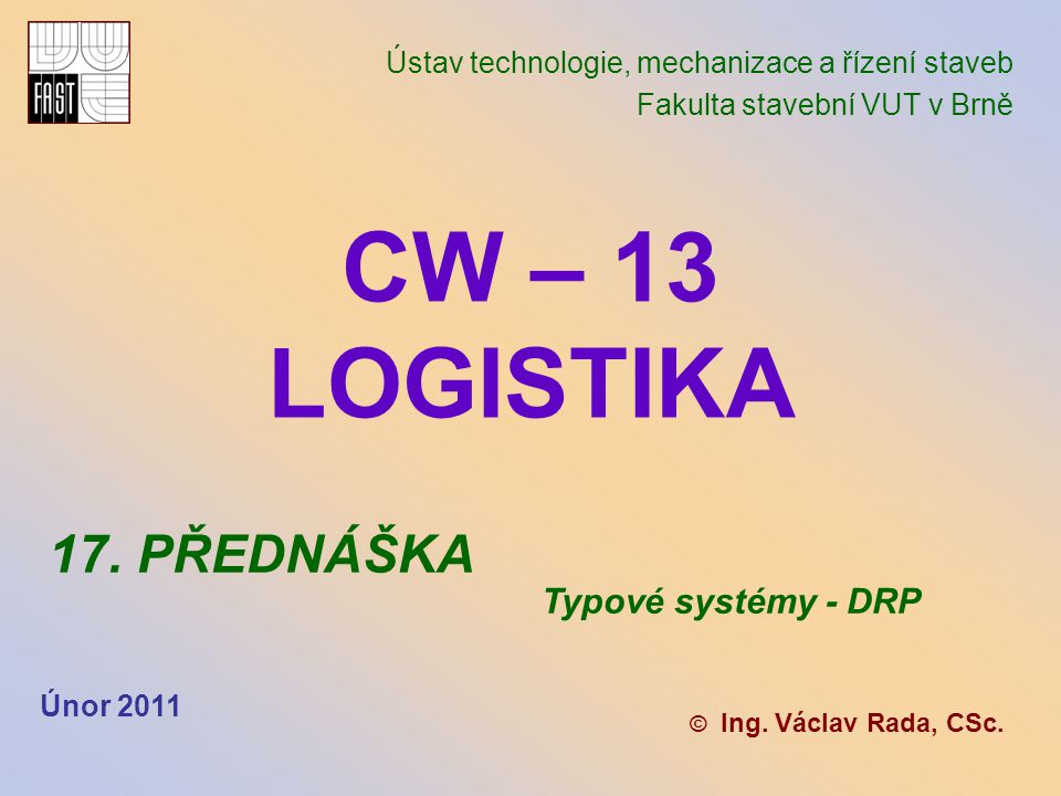 březen 2011 Teorie a systémy PPC (PPS) Systém DRP II Systém DRP II umožňuje prognózování po- ptávky po každé skladové položce v každém skladovacím a distribučním centru na časově rozložený plán doplňování zásob této položky.