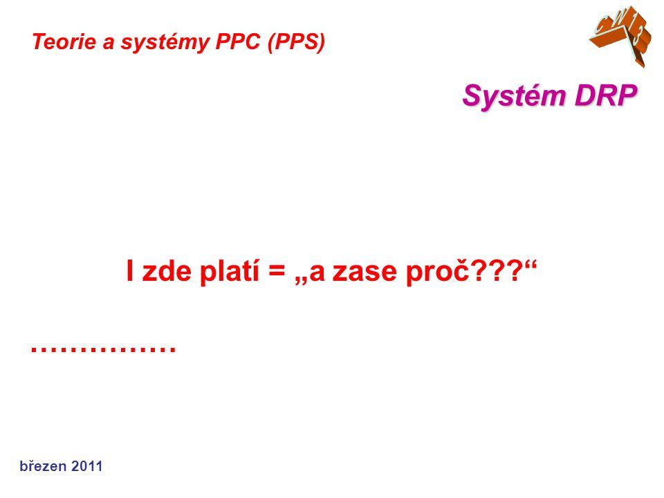 """březen 2011 Teorie a systémy PPC (PPS) I zde platí = """"a zase proč???"""" …………… Systém DRP"""
