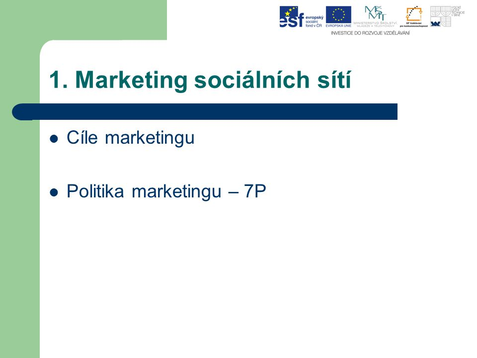 Co je to sociální marketing Firma i nezisková organizace si rozšiřují okruh sympatizantů (zákazníků, klientů, dárců), a to formou společné marketingové kampaně a navíc aktivně zapojuje zákazníky do procesu spotřebitelského rozhodování.