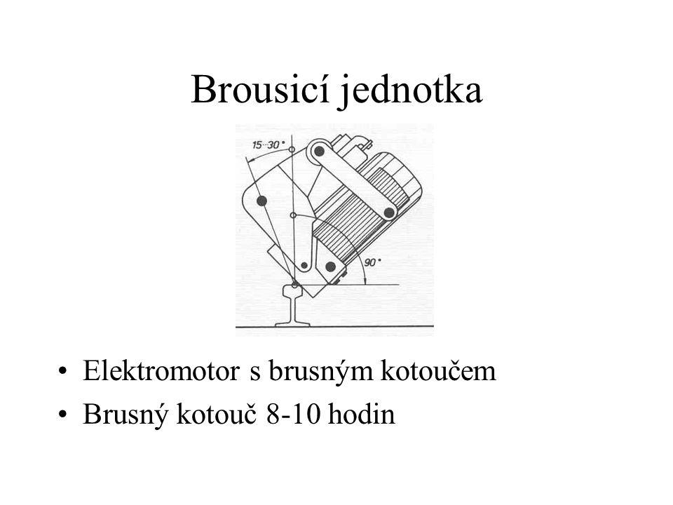 Brousicí jednotka Elektromotor s brusným kotoučem Brusný kotouč 8-10 hodin