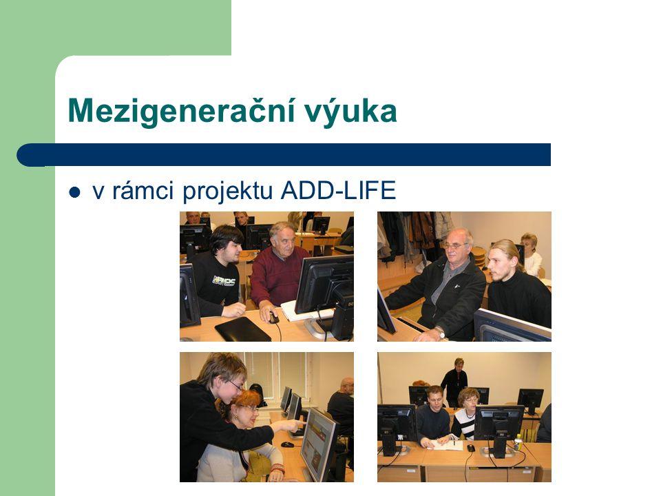 Mezigenerační výuka v rámci projektu ADD-LIFE