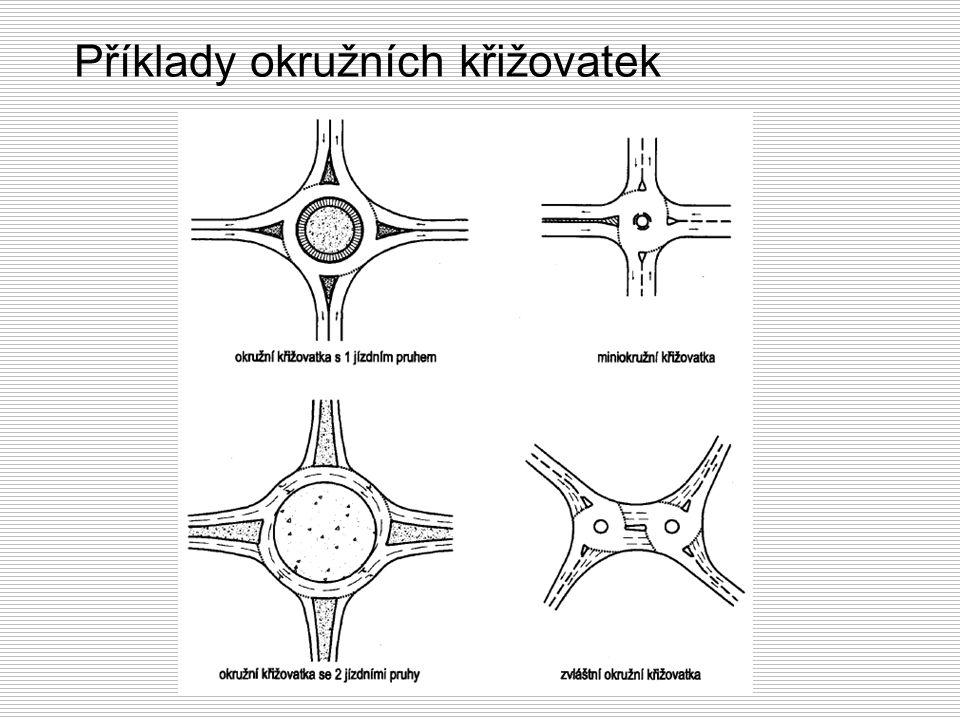 Příklady okružních křižovatek