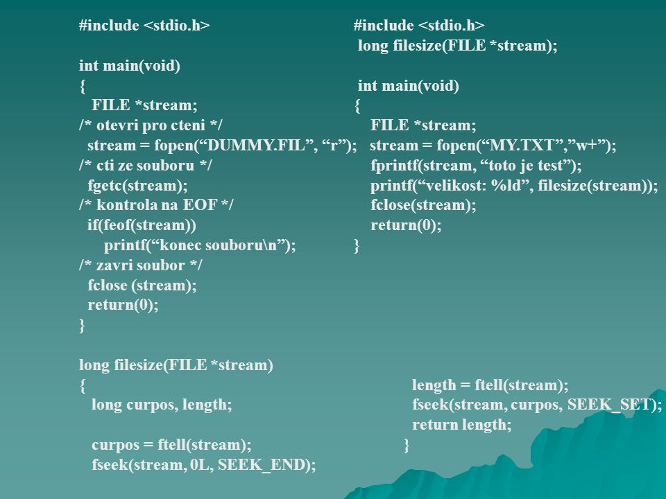 CS SP kód zásobník data volná paměť far heap MEDIUM volná paměť DS, SS pro každý zdrojový soubor až 64 KB do 64 KB sfilesfile A sfile B sfile Z … heap
