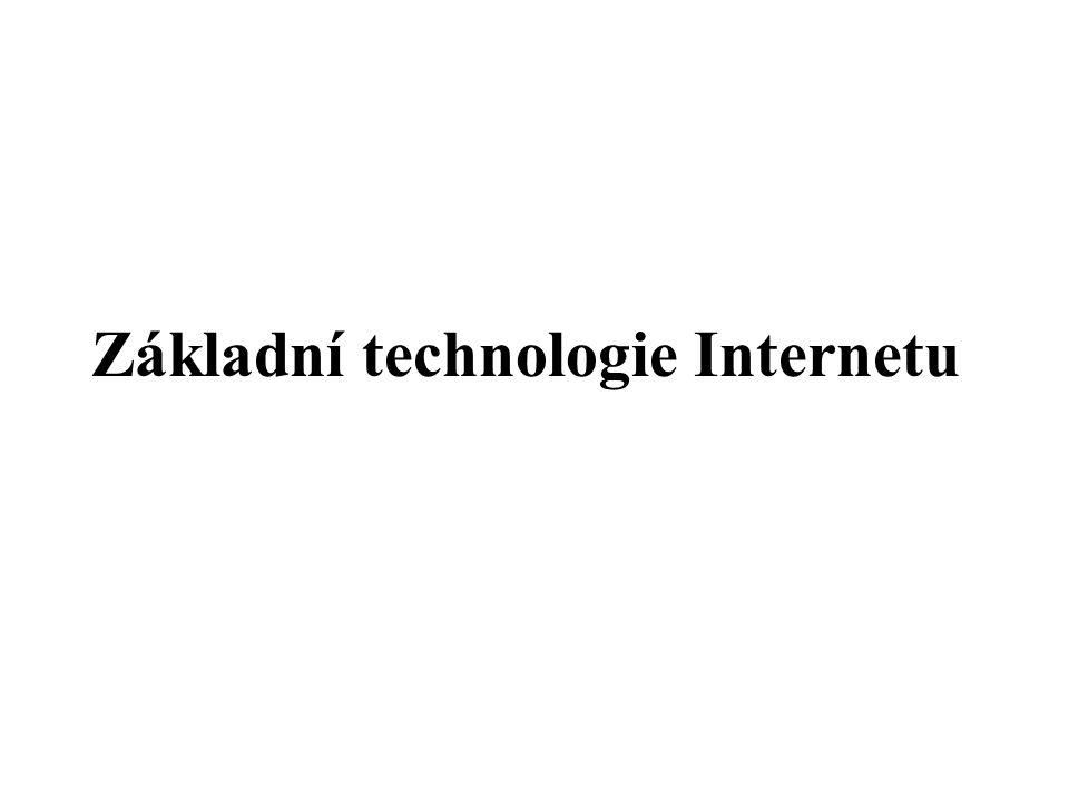 Základní technologie Internetu