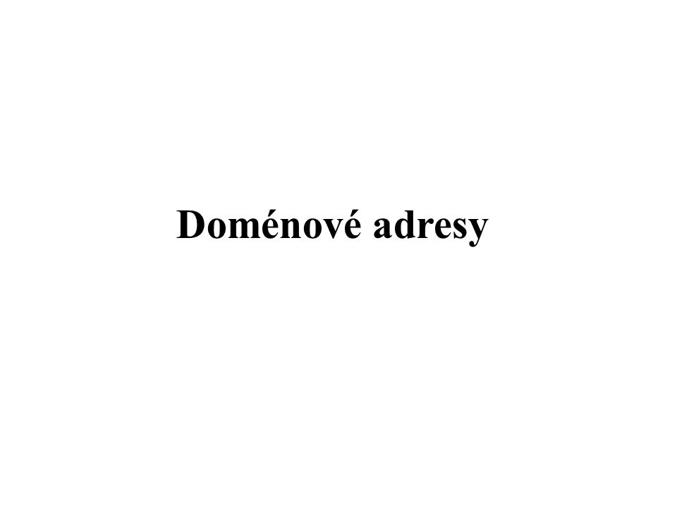 Doménové adresy