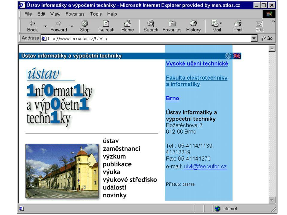 Propojení WWW stránek na různých WWW serverech vzájemnými odkazy (tzv.