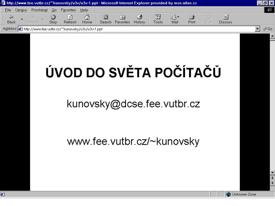 Lokální informace http://www.vutbr.cz/u3v (Universita třetího věku) http://www.vutbr.cz (VUT Brno) http://www.brno.cz (město Brno)