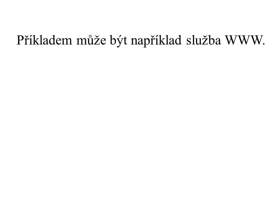 Příkladem může být například služba WWW.