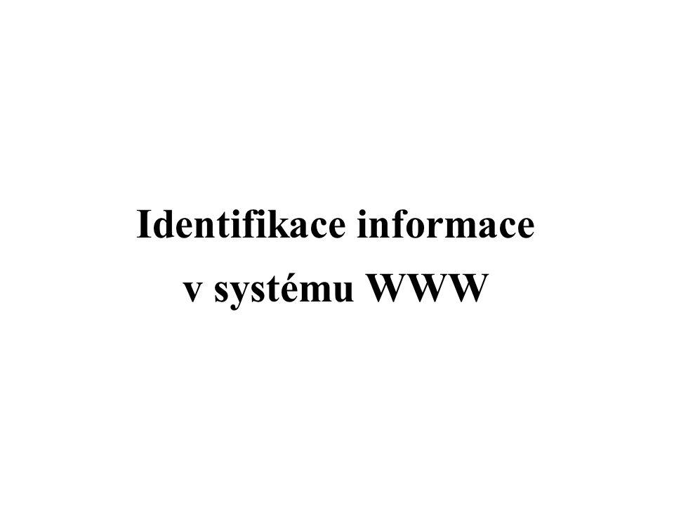 Identifikace informace v systému WWW