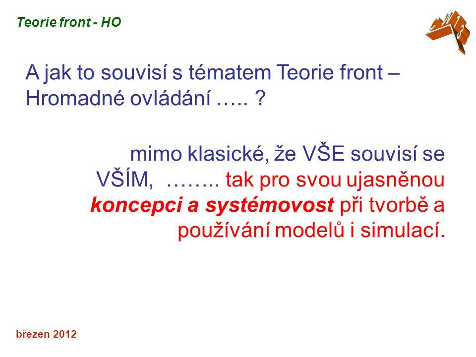 březen 2012 A jak to souvisí s tématem Teorie front – Hromadné ovládání …..