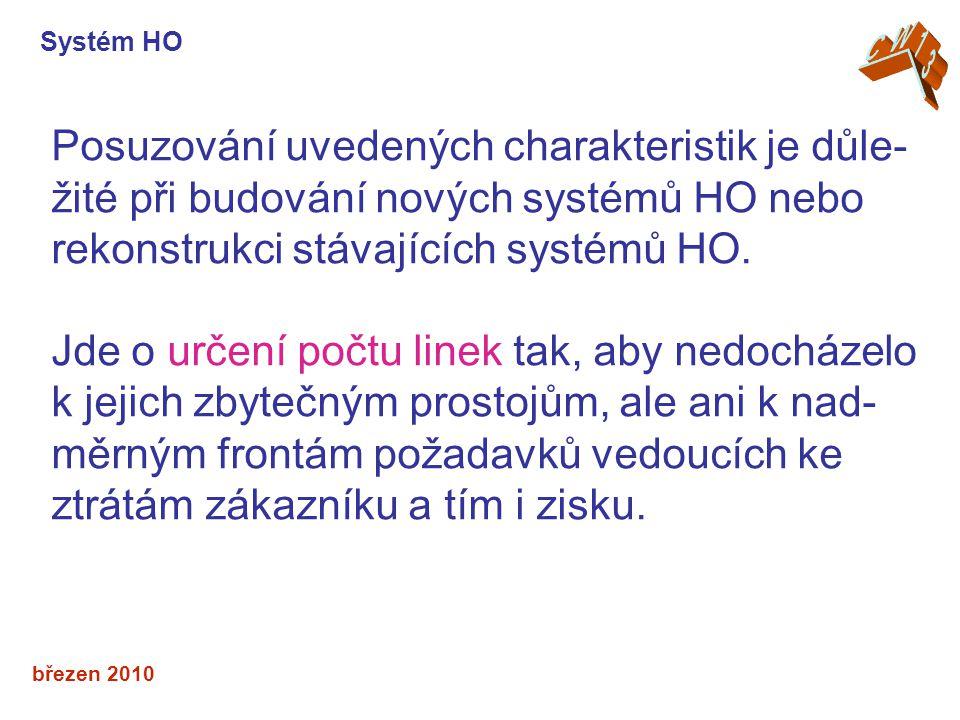 březen 2010 Posuzování uvedených charakteristik je důle- žité při budování nových systémů HO nebo rekonstrukci stávajících systémů HO.