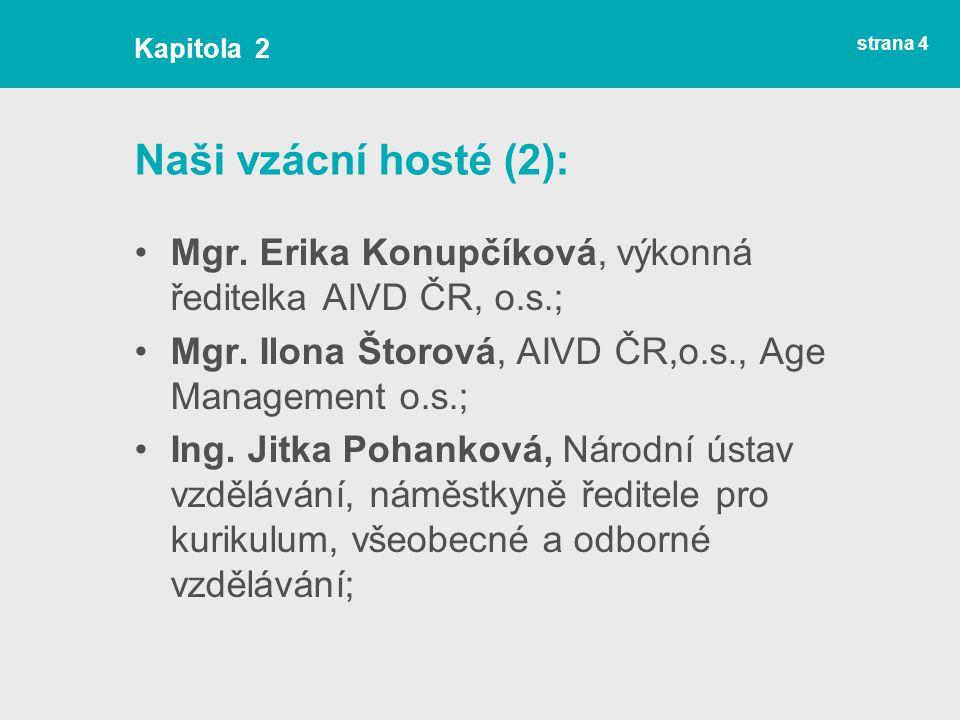 strana 4 Naši vzácní hosté (2): Mgr.Erika Konupčíková, výkonná ředitelka AIVD ČR, o.s.; Mgr.