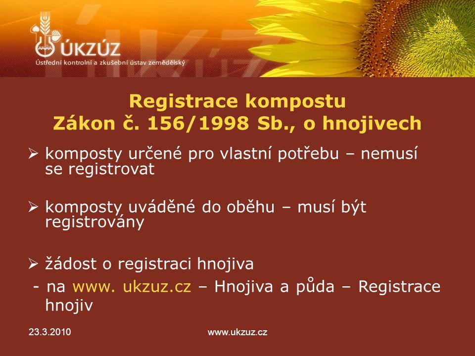 Registrace kompostu Zákon č.