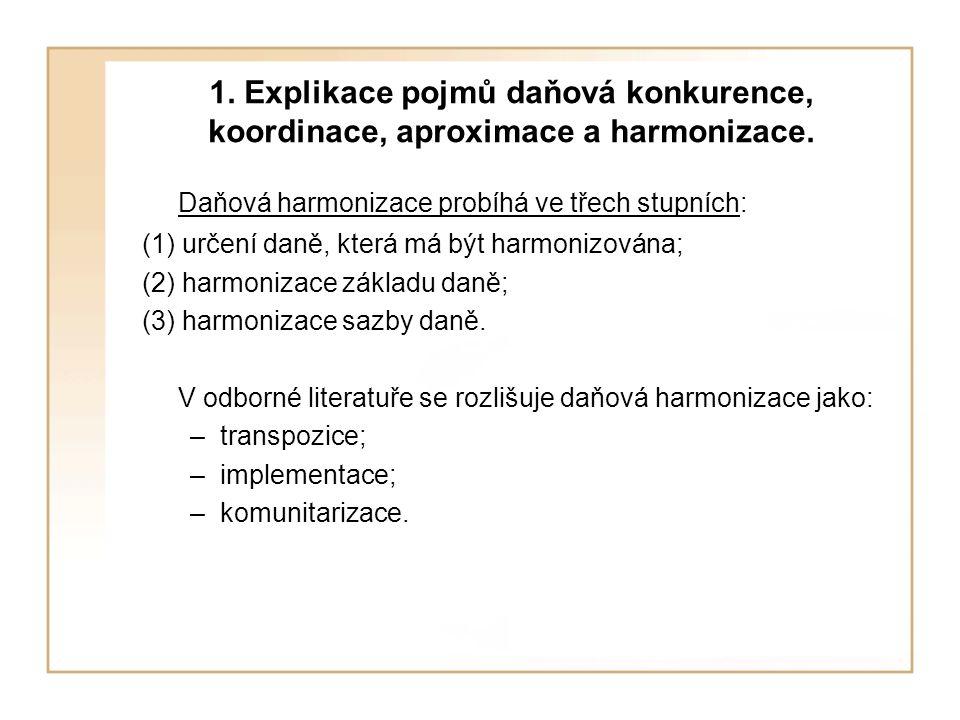 3.Harmonizace daně z přidané hodnoty (DPH).