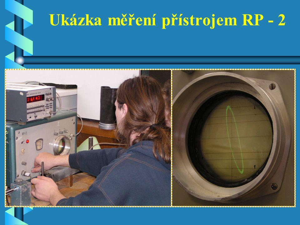 Ukázka měření přístrojem RP - 2