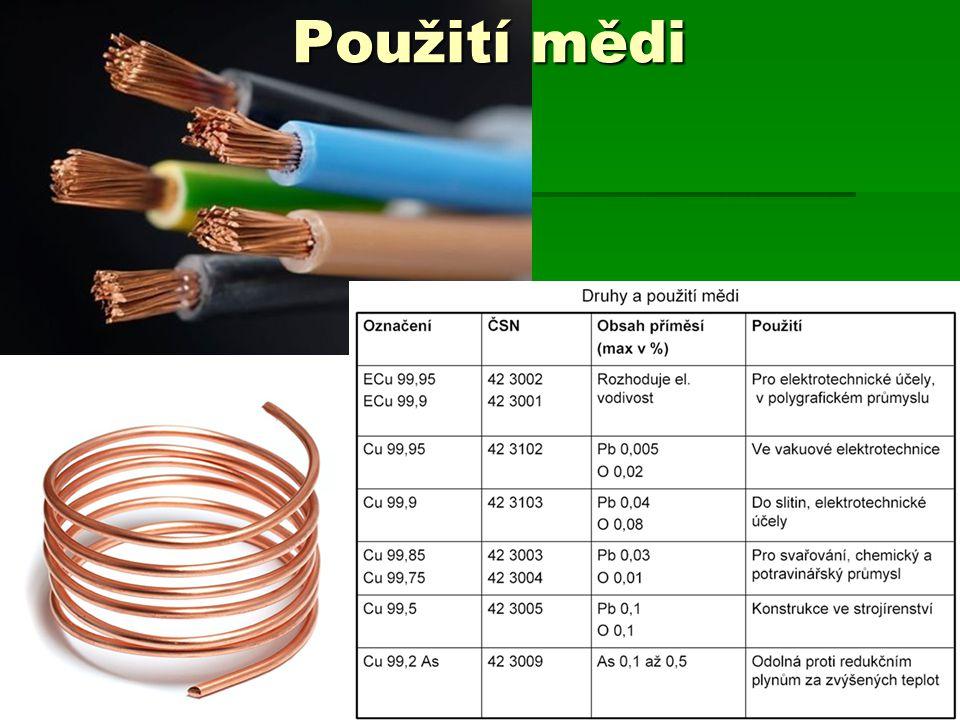 Použití mědi MTDII10