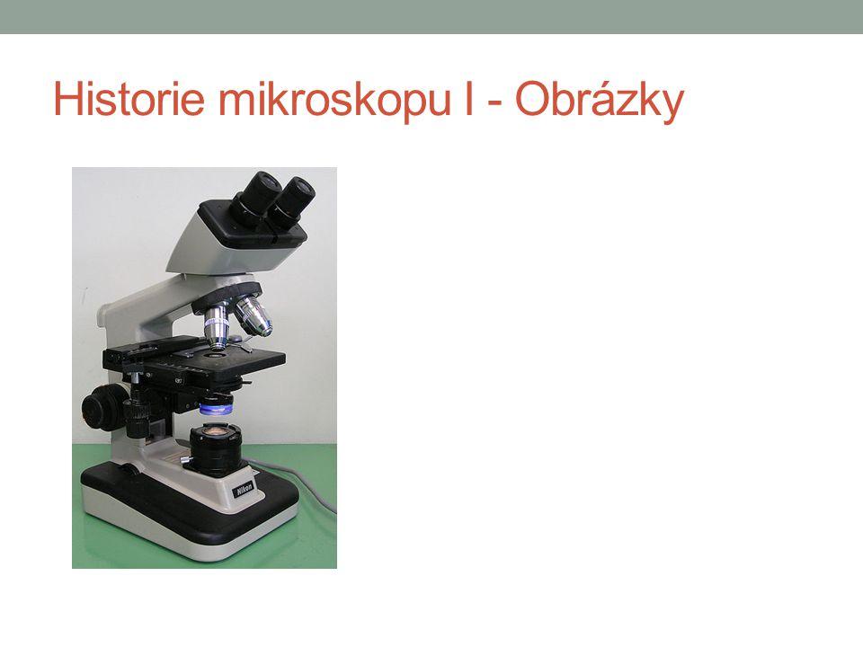 Historie elektronového mikroskopu I Počátek 20.