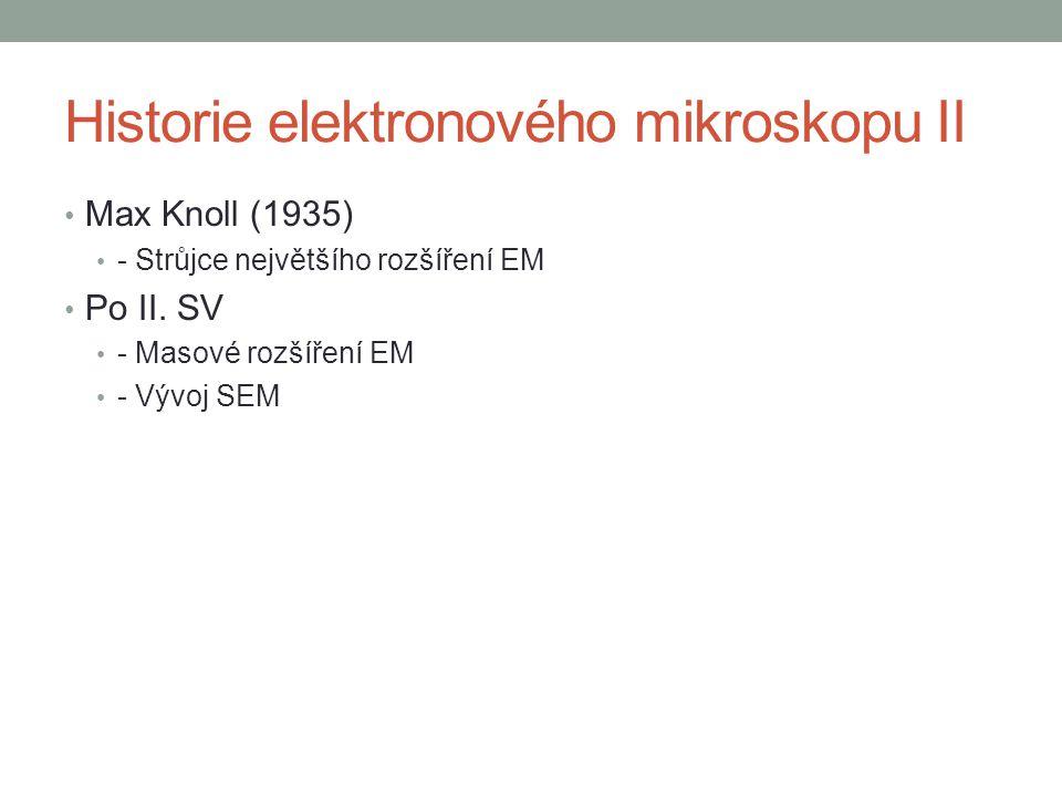 Historie elektronového mikroskopu II Max Knoll (1935) - Strůjce největšího rozšíření EM Po II.