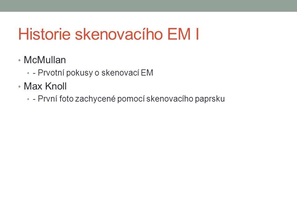 Historie skenovacího EM I - Obrázky