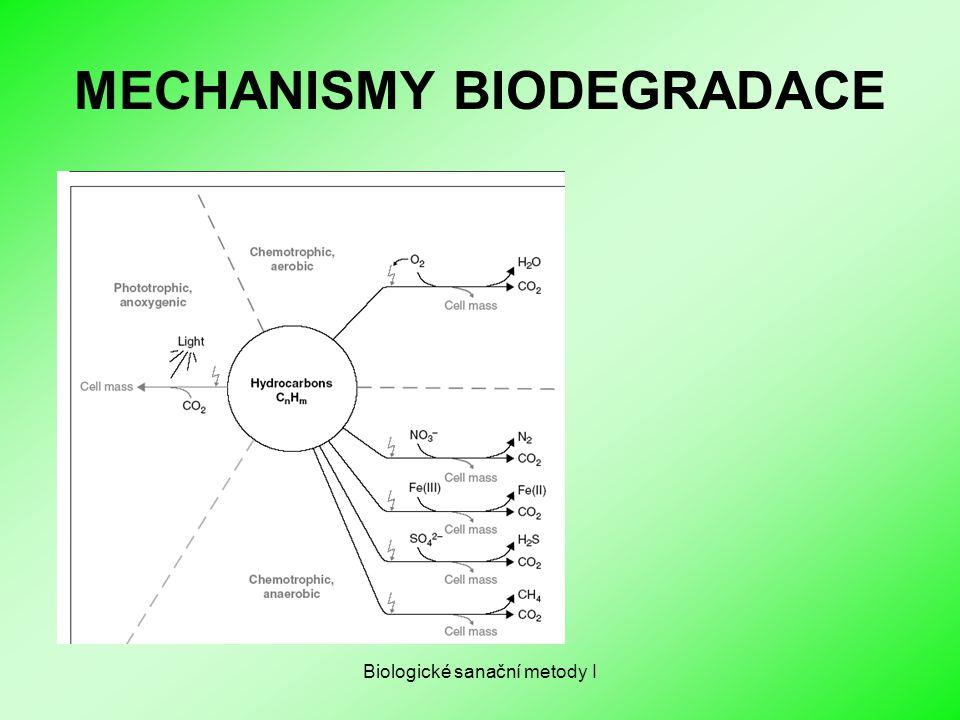 Biologické sanační metody I MECHANISMY BIODEGRADACE