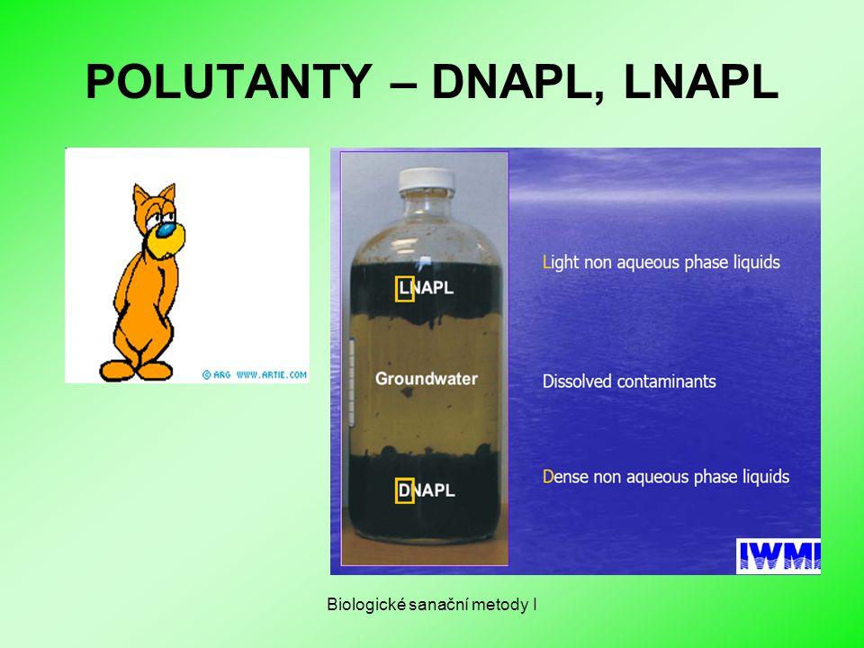 Biologické sanační metody I POLUTANTY – DNAPL, LNAPL