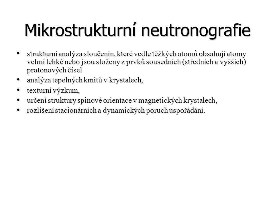 Mikrostrukturní neutronografie strukturní analýza sloučenin, které vedle těžkých atomů obsahují atomy velmi lehké nebo jsou složeny z prvků sousedních