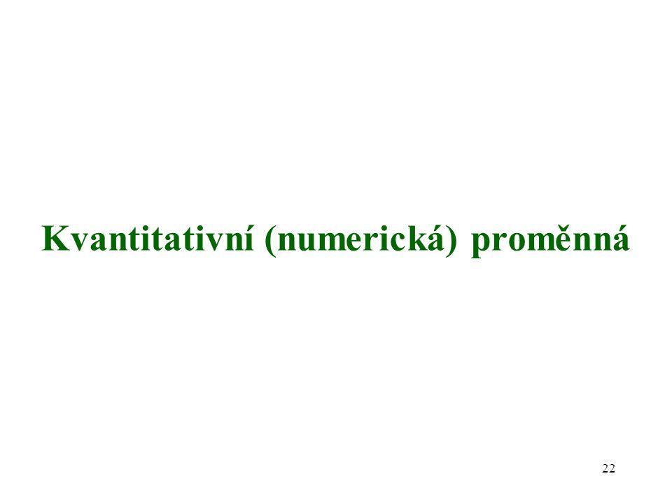 Kvantitativní (numerická) proměnná 22