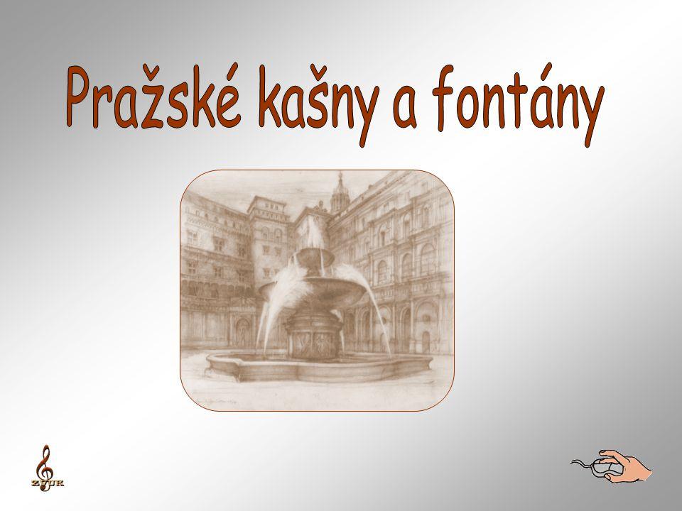 Kholova Medvědí fontána na unikátní fotografii, kde jí vidíme na původním místě před Slavatovským letohrádkem.