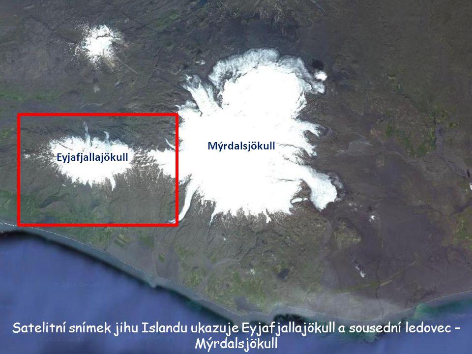 Eyjafjallajökull (77 km 2 ) Islandské ledovce Největší ledovec na Islandu je Vatnajökull. Jeho plocha je 8160 km 2 a tlouštka ledu více než 1000m