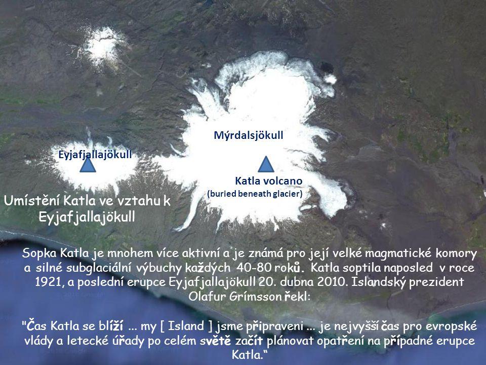 """Po posledních třech erupcích Eyjafjallajökull v roce 920, 1612 a 1921 následovaly erupce jejího mnohem většího """"bratra"""" - sopky Katla, nacházející se"""