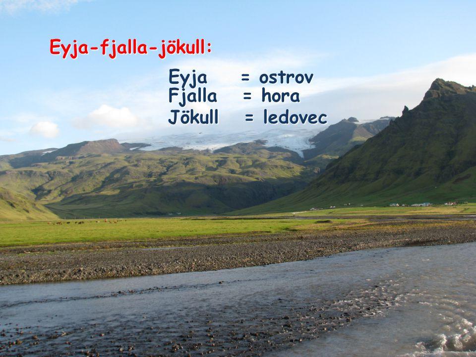 Eyjafjallajökull, jak je vidět od hlavní pobřežní dálnice