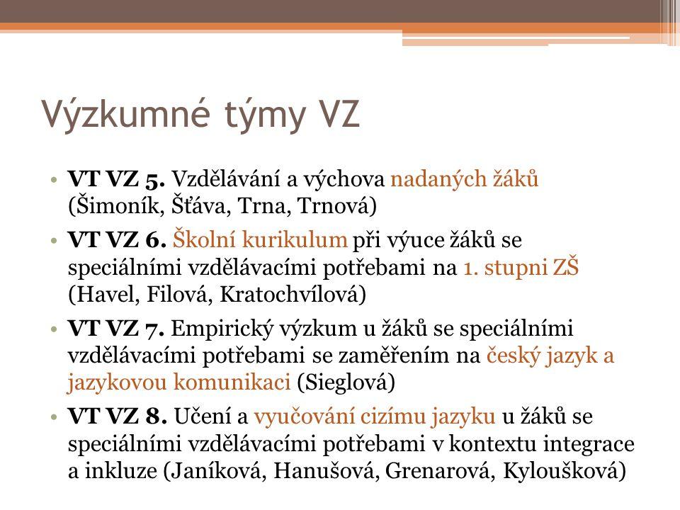 Výzkumné týmy VZ VT VZ 5.
