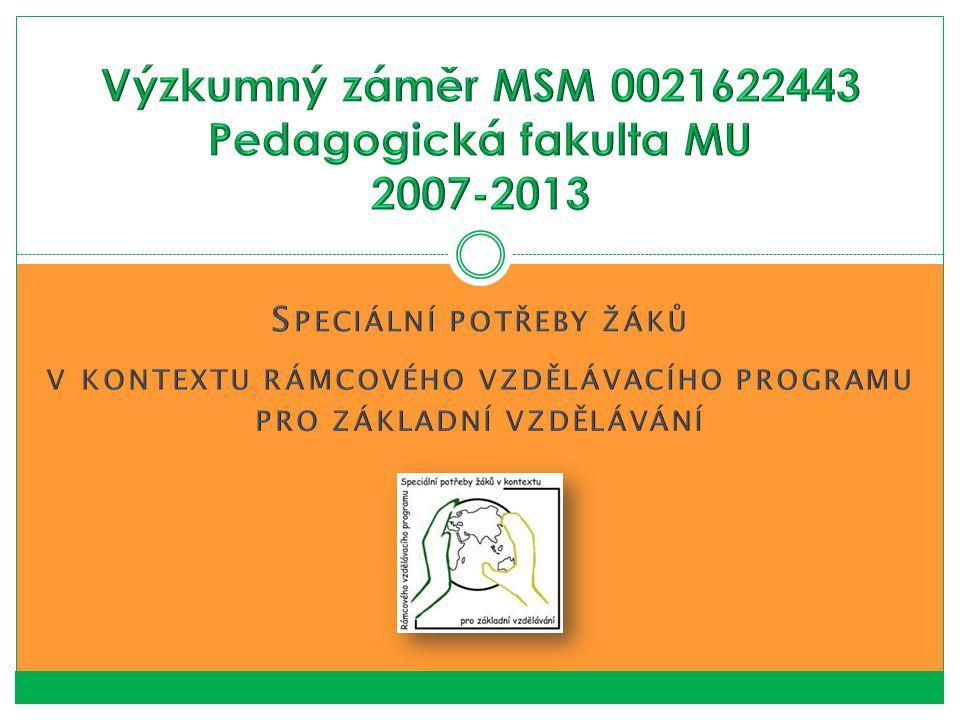 2013 – Inkluzivní vzdělávání žáků se speciálními vzdělávacími potřebami na ZŠ (Pančocha, Procházková, Pipeková) 10.