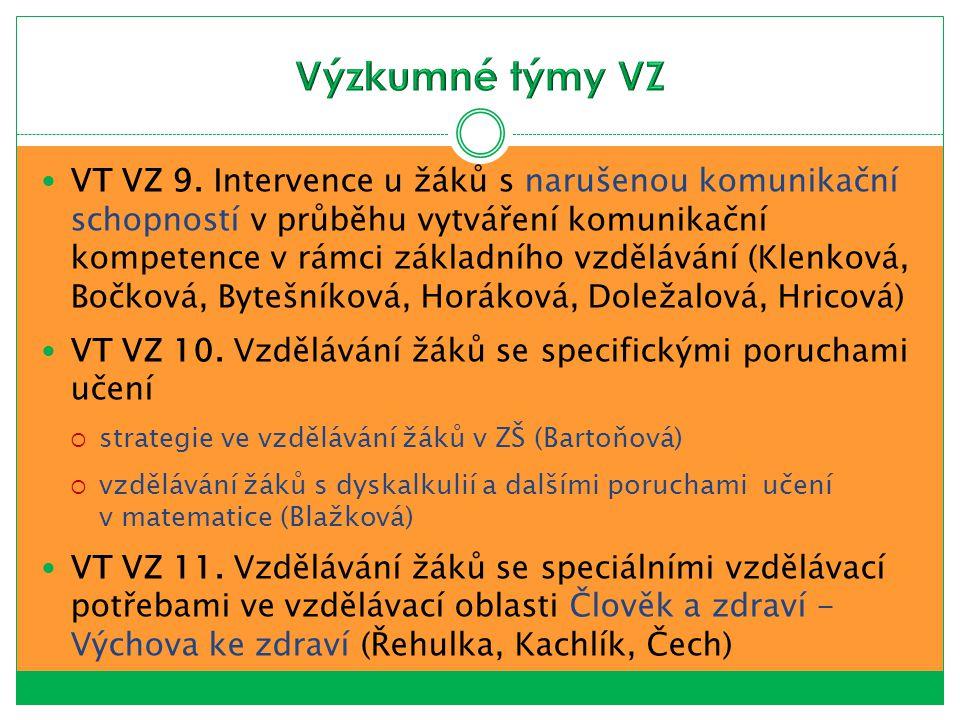 BARTOŇOVÁ, M., VÍTKOVÁ, M, et al.Vzdělávání žáků se speciálními vzdělávacími potřebami VI.