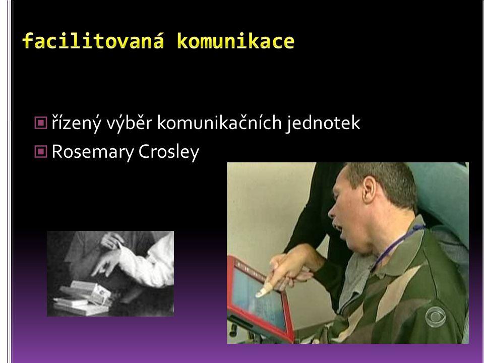 řízený výběr komunikačních jednotek Rosemary Crosley