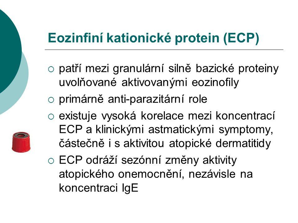 Eozinfiní kationické protein (ECP)  patří mezi granulární silně bazické proteiny uvolňované aktivovanými eozinofily  primárně anti-parazitární role