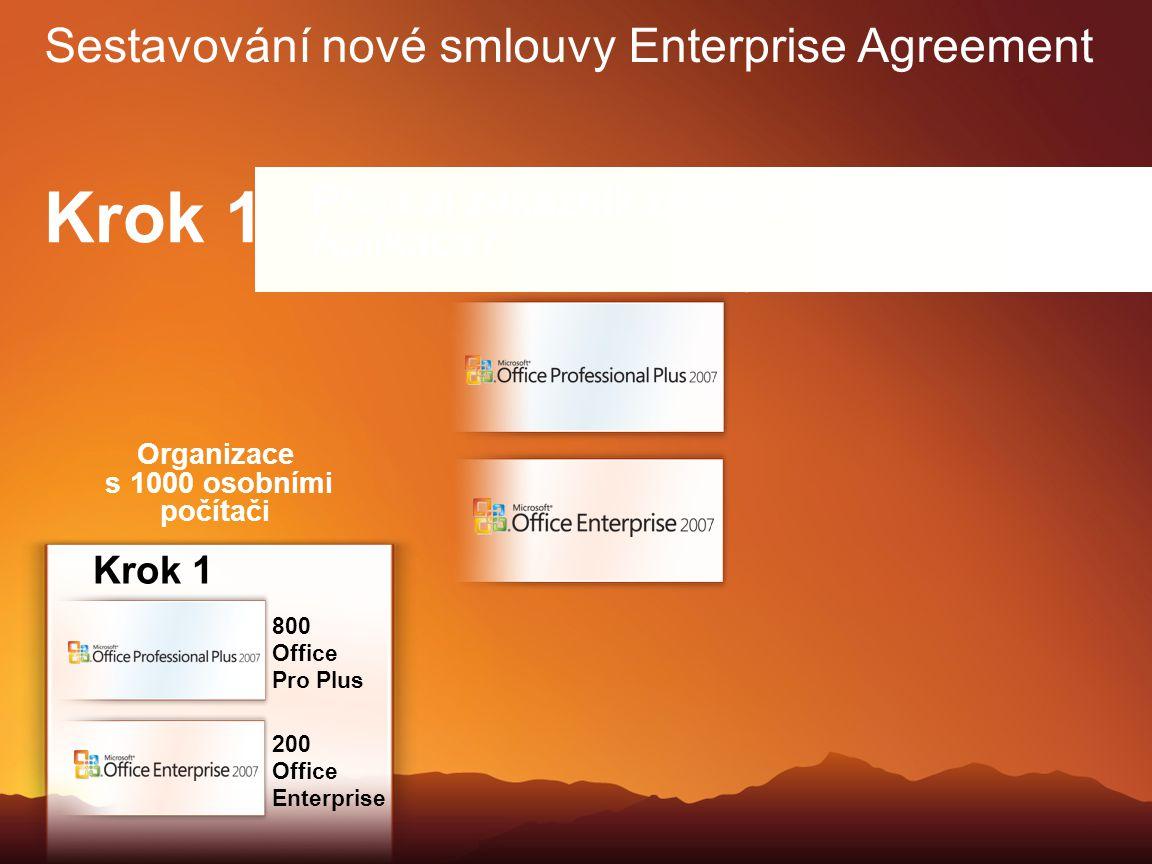 Jestliže ano, zákazník si může vybrat sadu Office Professional Plus, Office Enterprise nebo zvolit i kombinaci obou sad v různých počítačích. Krok 1 S