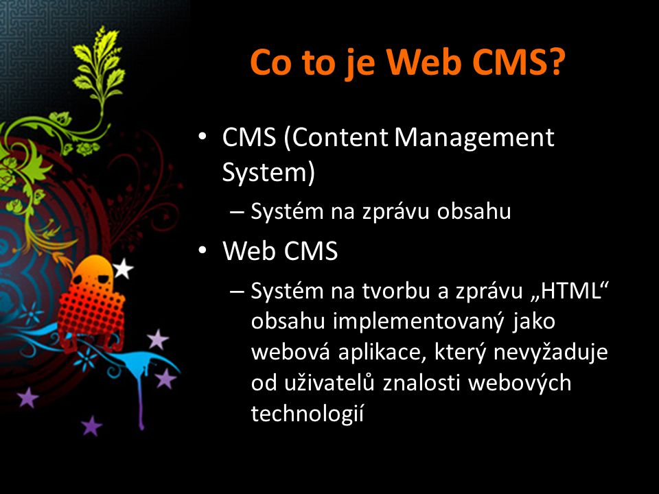 Co to je Web CMS.