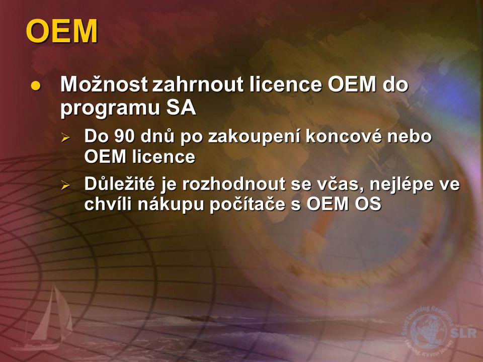 Microsoft Select License Pouze nákupy Licence jsou placeny v plné výši Pouze nákupy Licence jsou placeny v plné výši SA průběžné splátky po dobu zbytk