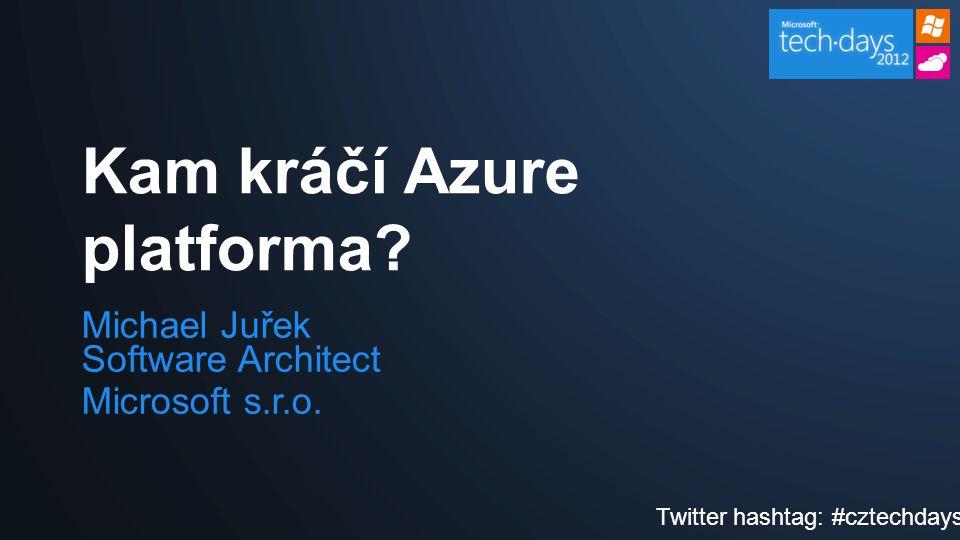 Michael Juřek Software Architect Microsoft s.r.o.Kam kráčí Azure platforma.