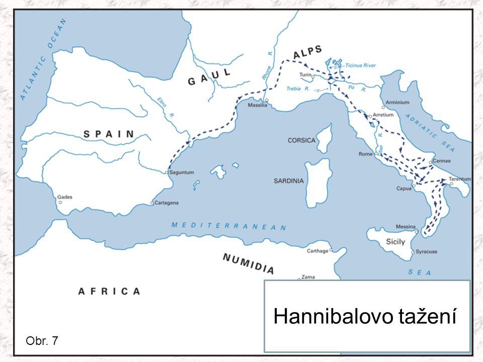 Hannibalovo tažení Obr. 7