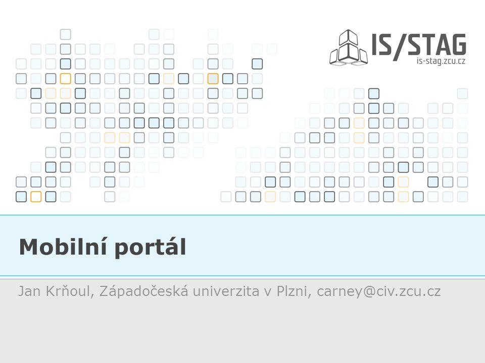 Mobilní portál Jan Krňoul, Západočeská univerzita v Plzni, carney@civ.zcu.cz