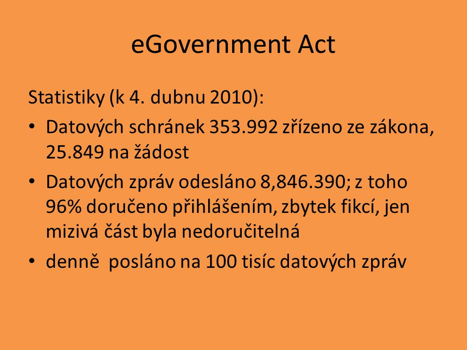 eGovernment Act Statistiky (k 4.