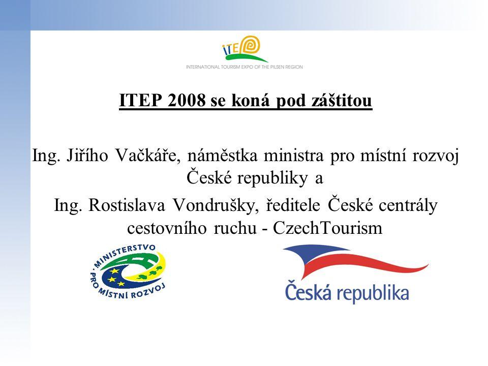 ITEP 2008 se koná pod záštitou Ing. Jiřího Vačkáře, náměstka ministra pro místní rozvoj České republiky a Ing. Rostislava Vondrušky, ředitele České ce