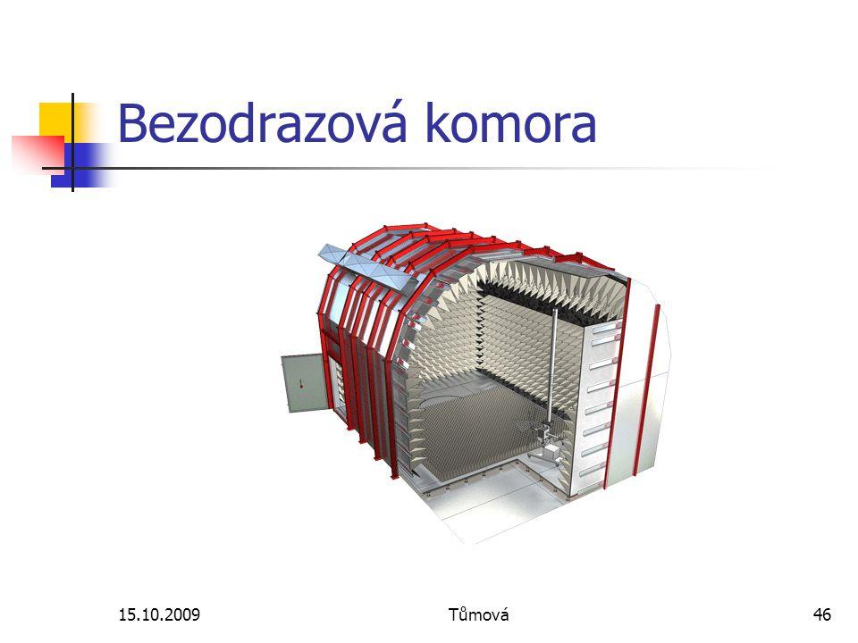 15.10.2009Tůmová46 Bezodrazová komora