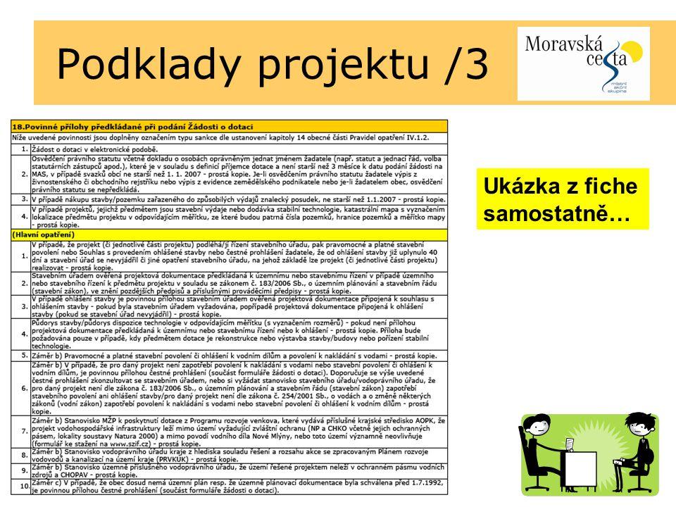 Podklady projektu /3 Ukázka z fiche samostatně…
