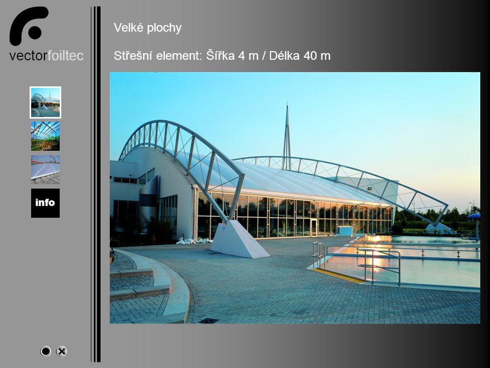 vectorfoiltec Magdeburg Velké plochy Střešní element: Šířka 4 m / Délka 40 m info