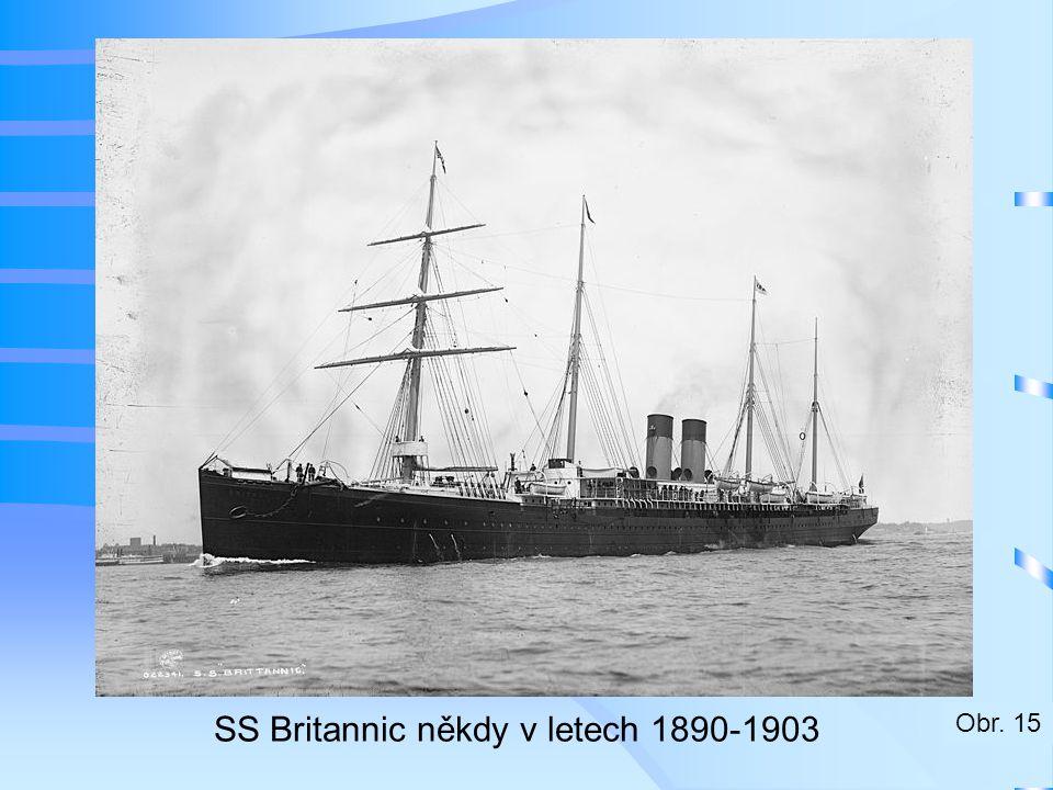 SS Britannic někdy v letech 1890-1903 Obr. 15