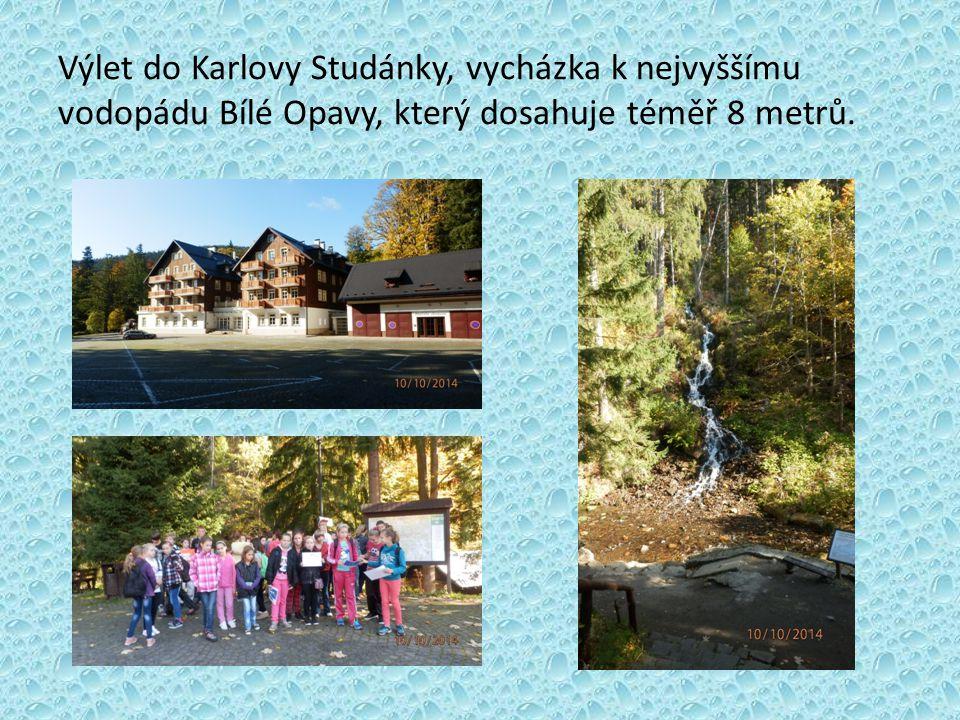 Výlet do Karlovy Studánky, vycházka k nejvyššímu vodopádu Bílé Opavy, který dosahuje téměř 8 metrů.