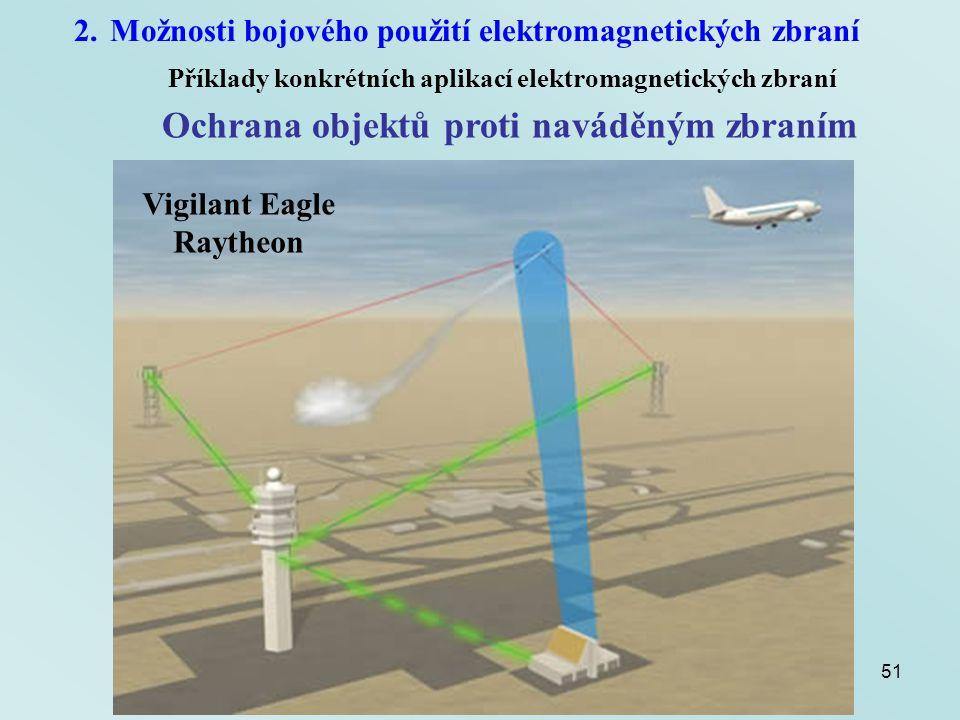51 2.Možnosti bojového použití elektromagnetických zbraní Příklady konkrétních aplikací elektromagnetických zbraní Ochrana objektů proti naváděným zbr
